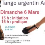 Initiation et pratique tango à Arras le 6 mars